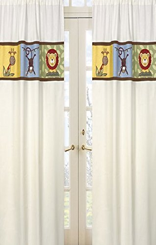 - Jungle Time Window Treatment Panels by Sweet JoJo Designs - Set of 2