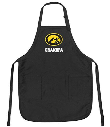 University of Iowa Grandpa Aprons Iowa Hawkeyes Grandpa w/Pockets Grilling Gift Him Men