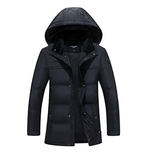 YANXH Winter Men's Middle-aged Cotton Thicker Down jacket coat , black , xl by YANXH outdoors