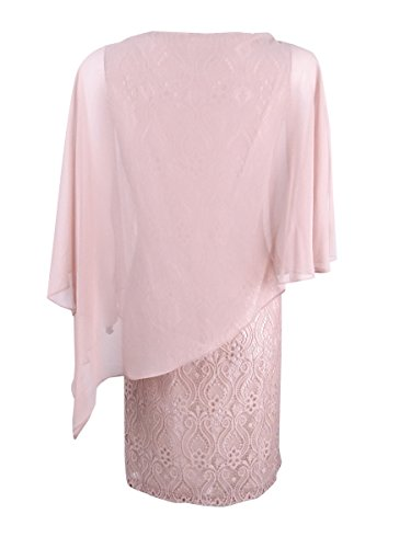 Overlay Cocktail Dress Apparel Lace Blush Connected Womens Pullover qFwf7H