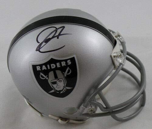 Derek Carr Autographed Oakland Raiders Mini Helmet BAS ()