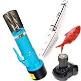 CAIDU Electric Fish Scaler Fishing Cleaner Skinner Scale Remover Cleaner Rechargeble Scaler Waterproof Scraper for Fish & 304 Stainless Steel Grip Handle Fish Skin Scaler