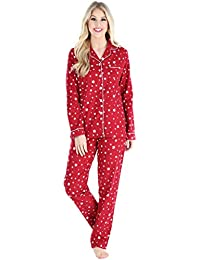Women's Cotton Flannel Long Sleeve Pajamas PJ Set
