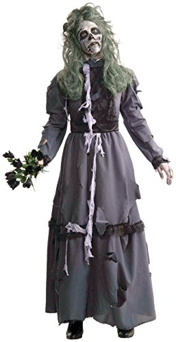 Forum Novelties Women's Zombie Lady Costume, Gray, Standard (Zombie Costumes Women)