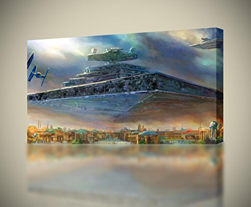 Star Wars Destroyer Ship CANVAS PRINT Wall Home Decor Giclee Art Poster CA740, Huge