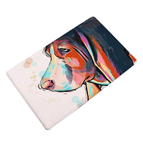 Sothread 40x60cm Soft Non-slip Rectangle Dog Printed Carpet Mats Bath Area Rug Doormats (Floor 3 On 100 Floors Halloween)