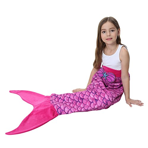 Camlinbo Mermaid Tails Blanket For Girls Halloween Soft Warm All Seasons Sleeping Bags Best Great Gift for Friends family Apply to Bedroom Sofa Beach outdoor (F-rose (Fun Halloween Costumes For Best Friends)
