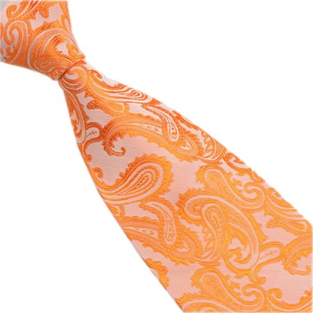 Men Patterned Tie Set Occasions Cufflinks Paisley Orange Pocket Square Various of nZwYYzqgS