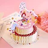 3D Clown cake Pop Up Card,Gift Greeting Card,Birthday Card & Special Gifts For Child,Lovely,Funny and Special Card For Party