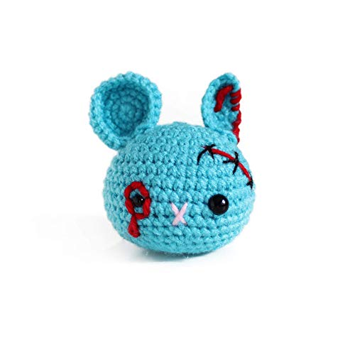 Handmade amigurumi zombie mouse stress ball by Geekirumi! - Squeeze anti stress/anxiety - Hand therapy toy - Halloween -