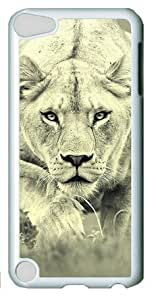 Personalized Case, Female Lion Hunting iPod Touch 5 White Sides Hard Shell Case by Sakuraelieechyan