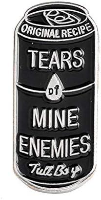 ink2055 Women Ladies Men Can Shape Enamel Tears of Mine Enemies Lapel Button Pin Badge Brooch – The Super Cheap