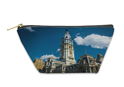 Gear New Accessory Zipper Pouch, City Hall In Center City Philadelphia Pennsylvania, Large, - In City Stores Center Philadelphia