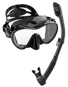 Cressi Scuba Diving Snorkeling Freediving Mask Snorkel Set, Black