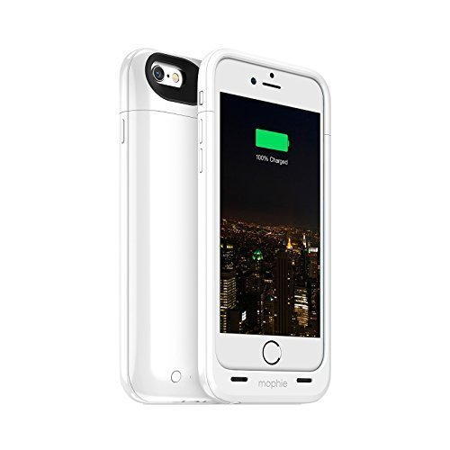 Mophie Juice Pack Plus - Protective Mobile Battery Pack Case for iPhone 6/6s - White (Renewed)