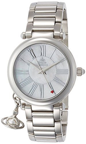 Vivienne Westwood watch ORB white shell dial stainless steel Quartz VV006PSLSL Ladies