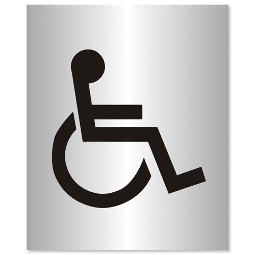 Stewart Superior Disabled Logo Sign Brushed Aluminium Acrylic 150x115mm Ref Bac103
