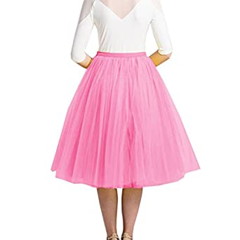 lisong tea length layered tulle a line prom