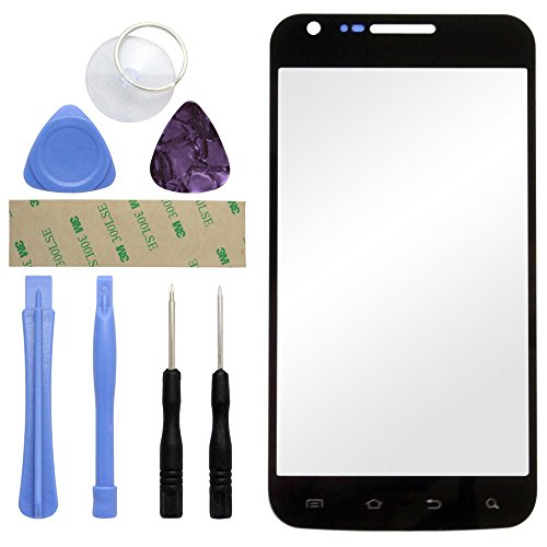 (Fenzer Black Replacement Glass Lens Screen for Samsung SGH-i727 Galaxy S II 2 SkyRocket with 8 Piece Tool Kit)
