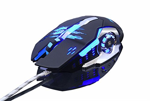 (Professional LED Optical Mouse DPI 6 Button USB Wired Gaming Mouse for Pro Game Notebook, PC, Laptop Computer (Black))
