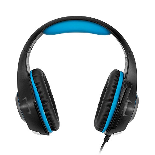 Beexcellent GM-1 Gaming Headset, Stereo Gaming Headphones Noise Isolation/LED Light/Bass Surround Over-ear/Mic USB & 3.5mm Wired for PS4 Xbox one PC (Blue) by Beexcellent (Image #5)