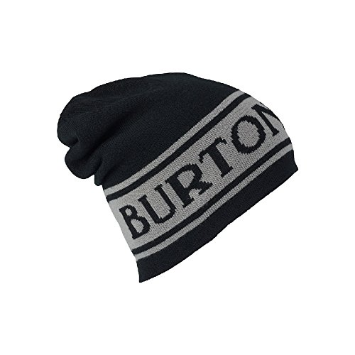 Burton Unisex Billboard Slouch Beanie, True Black/Iron Gray, One Size