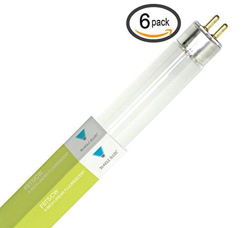- (Pack of 6) F6T5/CW Straight 6-Watt T5 4100K Cool White Fluorescent Light Bulb