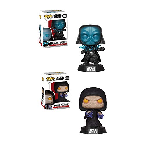 - Funko Pop! Star Wars Return of The Jedi Sith Lord Bundle with Electrocuted Darth Vader #288 and Electric Emperor Palpatine #289 Vinyl Figures (2 Items)