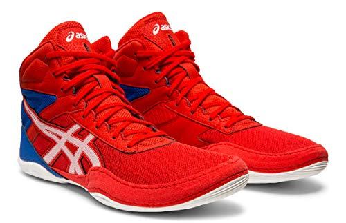 - ASICS Men's Matflex 6 Wrestling Shoes, Classic Red/White, 9.5 M US
