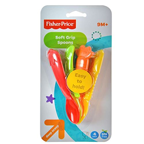 Fisher-Price Soft Grip Baby Spoons (Deep Scoop 4 pack)