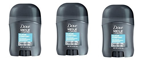 Dove Men+Care Clean Comfort Anti-Perspirant Deodorant Travel Size - 0.5 Oz (Pack of 3) by Dove