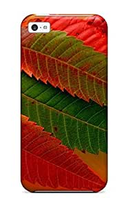 Snap-on Leaf Case Cover Skin Compatible With Iphone 5c