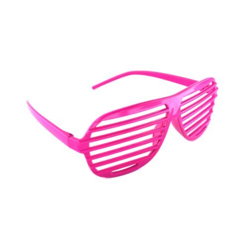 Generic Venetian Blinds Louver Shutter Shape Eye Glasses Sunglass Spectacles(Pair: Hot Pink) by Shutter - Blind Venetian Sunglasses