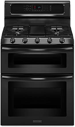 Kitchenaid KGRS505XBL 30 Inch, 5 Burner Freestanding Double Oven Range With  Even Heat Convection