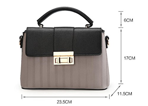 À Sac Flip Women'S Meaeo Bandoulière Messenger New Gris Simple Black Bag UgxSnqT5Zw