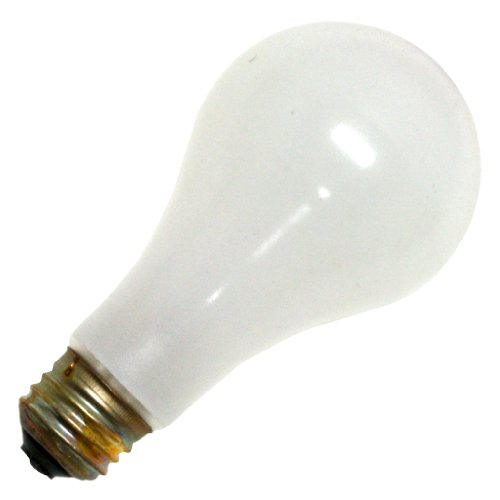 100w 130v A19 Medium Base (Eiko 100A/RS, 130V 100W - Inside Frost A-19 Medium Base - Rough Service Light Bulb (Pack of 30))