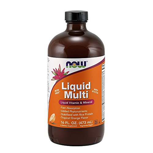 NOW Supplements, Liquid Multi, Tropical Orange Flavor, Fast Absorption, with Added Phytonutrients, 16-Ounce