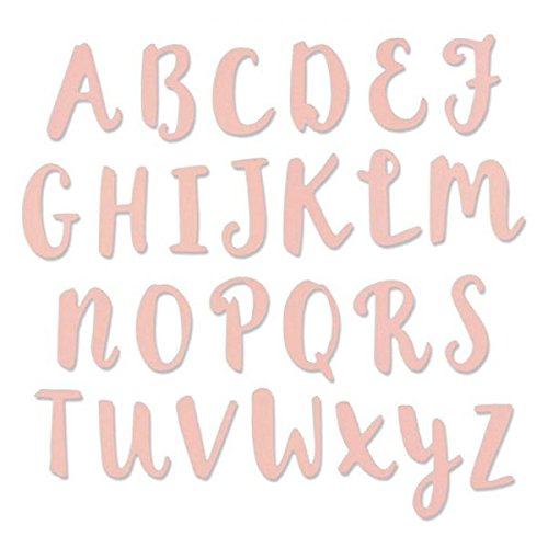 (Sizzix Thinlits Cutting die for Capital Alphabet)