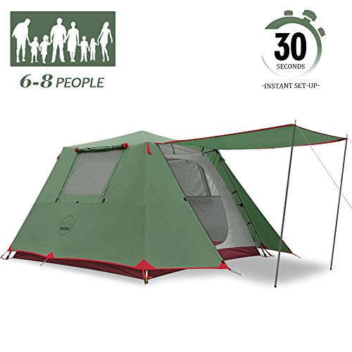 KAZOO Family Camping Tent Large Waterproof Pop Up Tents 6/8