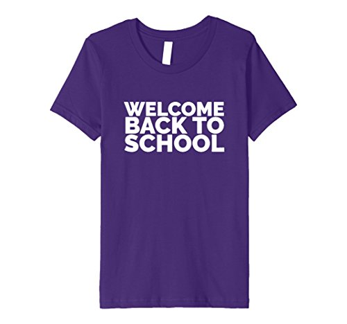 unisex-child Welcome Back to School | Cute Back to School T Shirt 10 Purple