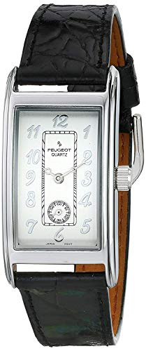 Peugeot Men's Classic Vintage Contour Leather Band Watch
