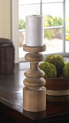 Craftsmen Wooden Candleholder Unpainted Rustic Candlestick