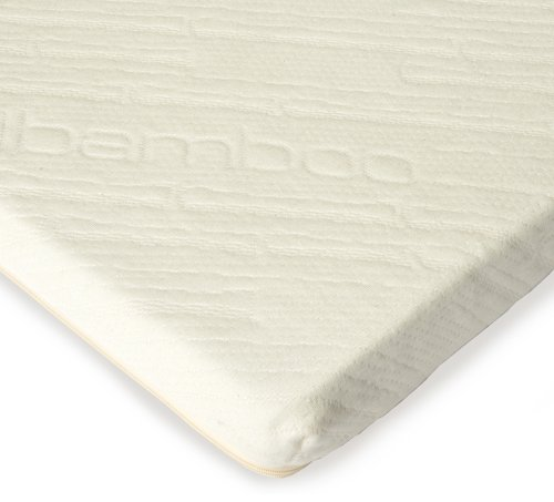 Sleep Creations Aerus Natural 2-1/2-Inch Memory Foam Mattress Topper with Cover, (Aerus Natural)