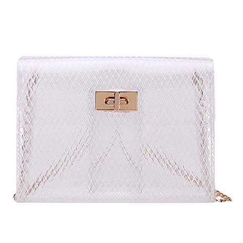 LUXISDE Fashion Lady Jelly Solid Color Buckle Shoulder Messenger Bag Mobile Phone Bag