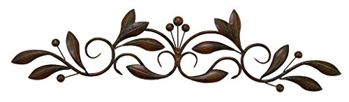 Top Scroll Iron - Deco 79 Metal Wall Decor, 30-Inch by 7-Inch