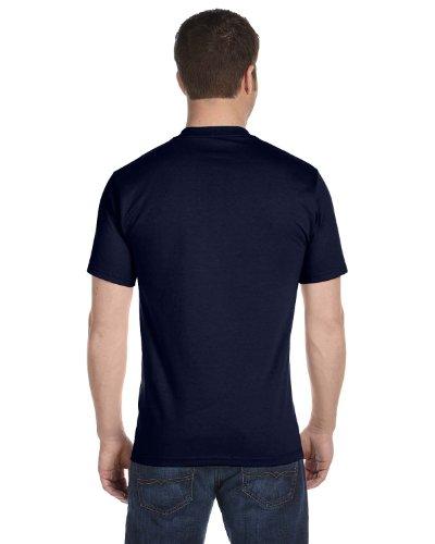 byHanes Hanes Men's Tagless ComfortSoft Crewneck T-Shirt (Pack Of 5) (Navy, Large)