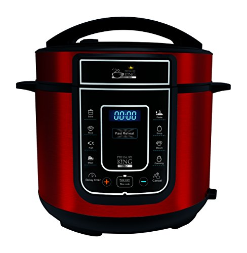 Pressure King Pro 5 Litre 12-in-1 Digital Electric Pressure Cooker, 900 W, Red