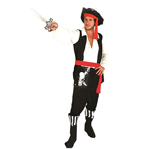 Pirate Customes (Halloween Costumes Pirate Clothes for Man Christmas Cosplay Performance)