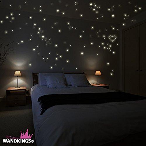 """11 opinioni per Sticker da muro Wandkings """"250 cuori per un cielo stellato"""" fluorescenti e"""