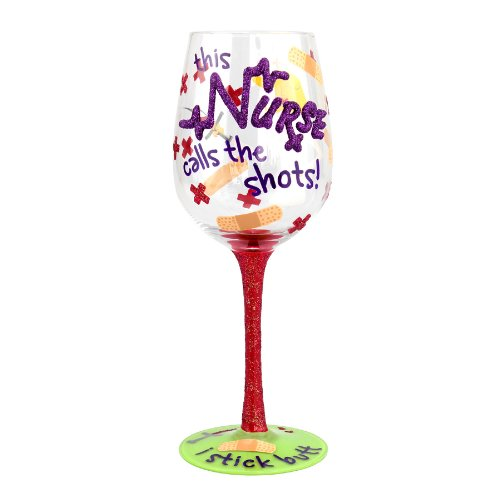 "Top Shelf ""I Stick Butt"" Wine Glass – Novelty Gift for a Nurse (Nurse Party Decorations)"